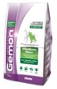 Gemon Dog - Сухой корм для взрослых собак средних пород (ягненок с рисом) Medium