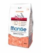 Monge - Сухой корм для взрослых собак мелких пород лосось с рисом Dog Speciality Mini
