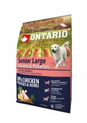 Ontario - Сухой корм для пожилых собак крупных пород (с курицей и картофелем) Senior Large Chicken & Potatoes