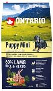 Ontario - Сухой корм для щенков малых пород (с ягненком и рисом) Puppy Mini Lamb & Rice