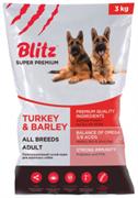 Blitz - Сухой корм для взрослых собак всех пород (с индейкой и ячменем) Adult Turkey & Barkey