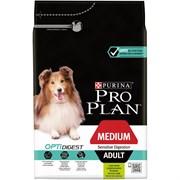 Purina Pro Plan - Сухой корм для взрослых собак средних пород с чувствительным пищеварением с комплексом (с ягненком и рисом) OPTIDIGEST