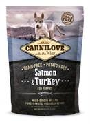 CarniLove - Сухой беззерновой корм для щенков всех пород (с лососем и индейкой) Puppy Salmon & Turkey