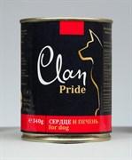 Clan Pride - Консервы для собак (говяжье сердце и печень) № 94