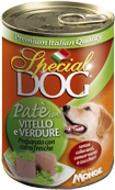 Special Dog - Консервы для собак (паштет из телятины с овощами)
