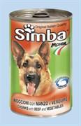 Simba Dog - Консервы для собак (кусочки говядины с овощами)