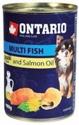 Ontario - Консервы для собак малых пород (рыбное ассорти) Mini Multi Fish, Salmon oil