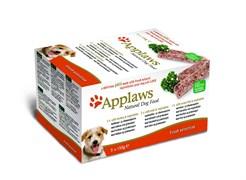 """Applaws - Набор для собак """"Индейка, Говядина, Океаническая рыба"""" (5 шт*150 г) Dog Pate MP Fresh Selection Turkey, Beef, Ocean Fish"""