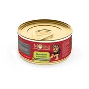 """Molina - Консервы для собак """"Цыпленок с ягненком в желе"""""""
