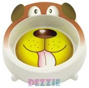 Dezzie - Миска для собак, 450 мл, 18*18*5,5 см, пластик