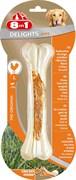 8in1 - Косточка сверхпрочная с куриным мясом для крупных собак 21 см DELIGHTS Strong L