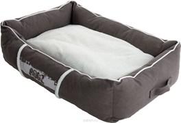 Rogz - Лежак с бортиком и двусторонней подушкой, серый/кремовый, малый (56x35x22 см) LOUNGE POD SMALL