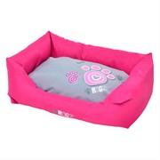 """Rogz - Лежак с бортиком и двусторонней подушкой """"Розовая лапка"""", малый (56x35x22 см) SPICE WALL BED SMALL"""