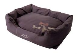 """Rogz - Лежак с бортиком и двусторонней подушкой """"Кофейные косточки"""", средний (72x45x25 см) SPICE POD MOCHA BONE"""
