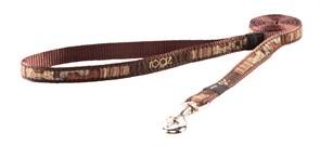 "Rogz - Поводок ""Кофейные косточки"" (размер M - ширина 1,6 см, длина 1,4 м) FANCY DRESS FIXED LEAD"