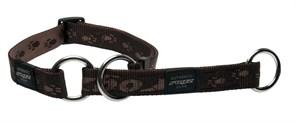 Rogz - Полуудавка строгая, шоколадный (размер M (31-45 см), ширина 1,6 см) ALPINIST WEB HALF CHECK COLLAR