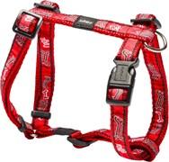 "Rogz - Шлейка ""Красные косточки"" (размер XL (60-100 см), ширина 2,5 см) FANCY DRESS H-HARNESS"