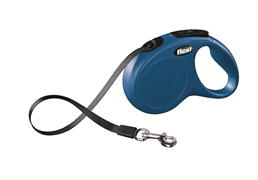 Flexi - Рулетка-ремень для собак, размер S - 5 м до 15 кг (голубая) New Classic tape blue