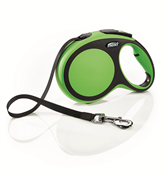 Flexi - Рулетка-ремень для собак, размер L - 8 м до 50 кг (зеленая) New Comfort Tape green
