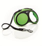 Flexi - Рулетка-ремень для собак, размер L - 5 м до 60 кг (зеленая) New Comfort Tape green