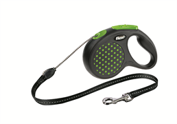 Flexi - Рулетка-трос для собак, размер S - 5 м до 12 кг (зеленая) Design Cord green