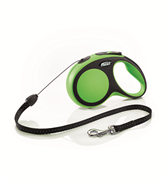 Flexi - Рулетка-трос для собак, размер S - 8 м до 12 кг (зеленая) New Comfort Cord green