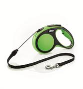 Flexi - Рулетка-трос для собак, размер M - 5 м до 20 кг (зеленая) New Comfort Cord green