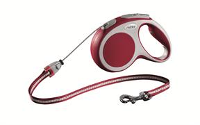 Flexi - Рулетка-трос для собак, размер M - 5 м до 20 кг (красная) Vario cord red