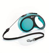 Flexi - Рулетка-трос для собак, размер M - 8 м до 20 кг (голубая) New Comfort Cord blue