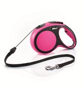 Flexi - Рулетка-трос для собак, размер M - 8 м до 20 кг (розовая) New Comfort Cord pink