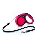 Flexi - Рулетка-трос для собак, размер M - 5 м до 20 кг (красная) New Comfort Cord red
