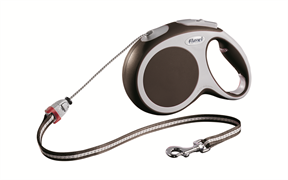 Flexi - Рулетка-трос для собак, размер M - 8 м до 20 кг (коричневая) Vario cord brown
