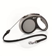 Flexi - Рулетка-трос для собак, размер M - 8 м до 20 кг (серая) New Comfort Cord grey
