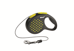 Flexi - Рулетка-трос для собак, размер XS - 3 м до 8 кг (желтая) Design Cord yellow