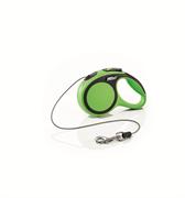 Flexi - Рулетка-трос для собак, размер XS - 3 м до 8 кг (зеленая) New Comfort Cord green