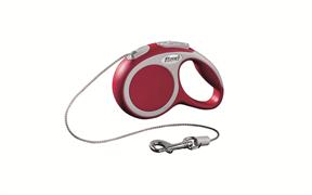 Flexi - Рулетка-трос для собак, размер XS - 3 м до 8 кг (красная) Vario cord red