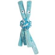 Rogz - Игрушка для щенков канатная с пищалкой, средняя (голубой) COWBOYZ ROPE TOY