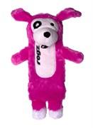 Rogz - Мягкая игрушка с карманом для пластиковой бутылки, малая (розовый) THINZ SMALL PLUSH TOY