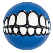 Rogz - Мяч с принтом зубы и отверстием для лакомств, средний (синий) GRINZ BALL MEDIUM