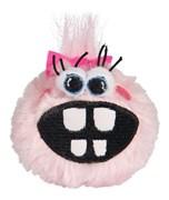 Rogz - Плюшевый мяч для щенков с принтом зубы, средний (розовый) PUPZ MEDIUM GRINZ PLUSH