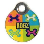 "Rogz - Адресник пластиковый малый ""Поп-арт"" INSTANT ID TAG SMALL"