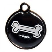 """Rogz - Адресник пластиковый малый """"Черная косточка"""" INSTANT ID TAG SMALL"""