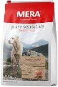 Mera - Сухой беззерновой корм для собак всех пород с чувствительным пищеварением (с говядиной и картофелем) Pure Sensitive  fresh meat Adult Rind&Kartoffel