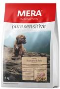 Mera - Сухой полнорационный корм для юниоров всех пород с чувствительным пищеварением (с индейкой и рисом) Pure Sensitive Junior Truthahn&Reis