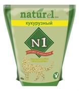 """N1 - Комкующийся наполнитель Naturel """"Кукурузный"""" на 4,5л"""
