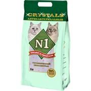 N1 - Силикагелевый антибактериальный наполнитель, 5л, (Зелёный) Crystals