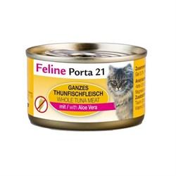 Porta 21 Feline - Консервы для кошек (филе тунца с алоэ вера в желе) Tuna with Aloe Vera Jelly - фото 15441