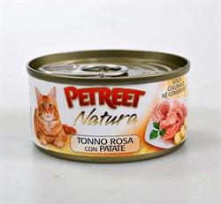 Petreet - Консервы для кошек (кусочки розового тунца с картофелем) Natura - фото 15479