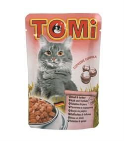 Tomi - Паучи для кошек (телятина с индейкой) - фото 15615