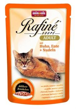 Animonda - Паучи для взрослых кошек (с курицей, уткой и пастой) Rafine Soupe Adult - фото 15664